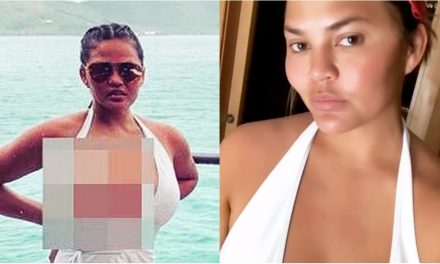 Chrissy Teigen ' s Plunging One-PieceIs So NSFW, She Blurred …