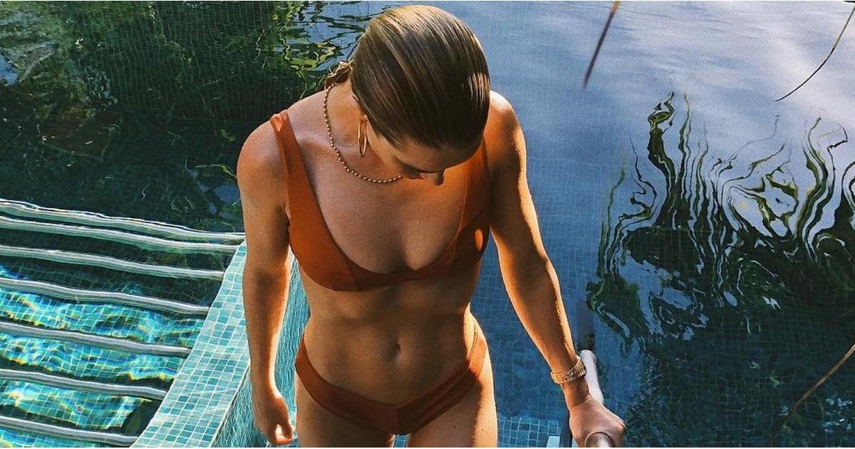 Rosie Huntington-Whiteley Brown Bikini on Instagram