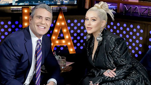 Christina Aguilera Gives Andy Cohen 'Dirrty' Leather Chaps For Hi …