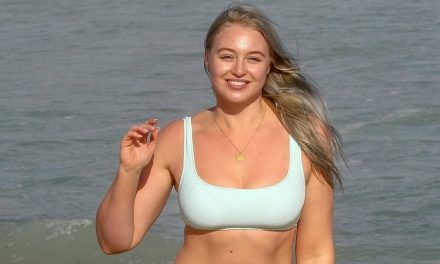 Iskra Lawrence Looks Mighty Fresh in a Mint Bikini in Miami– Now …