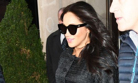 Meghan Markle Cradles Baby Bump As She Braves The Cold On Secret …