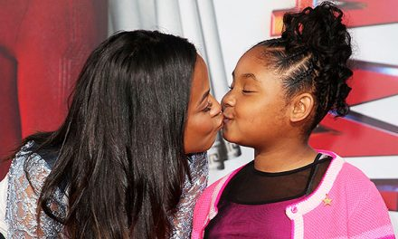 Christina Milian Kisses Daughter, 9, On Lips During Cute Red Carp …