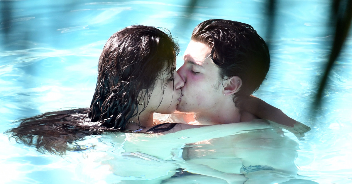Camila Cabello as well as Shawn Mendes Share Steamy Kiss in the Pool in …