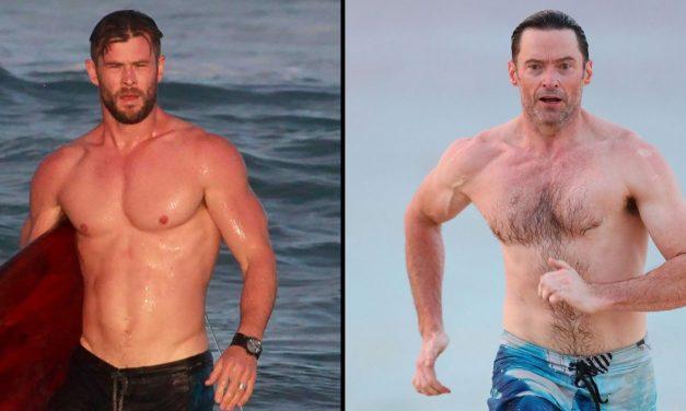 Jason Momoa! Hugh Jackman! Shirtless Dads Show Us Their Stuff: Pi …