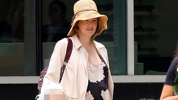 Blake Lively Shows Off Baby Bump In Floral Dress While Out With D.