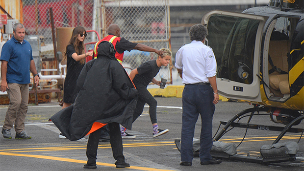 Dakota Johnson Rides Helicopter With Chris Martin's Son Moses, 13 …