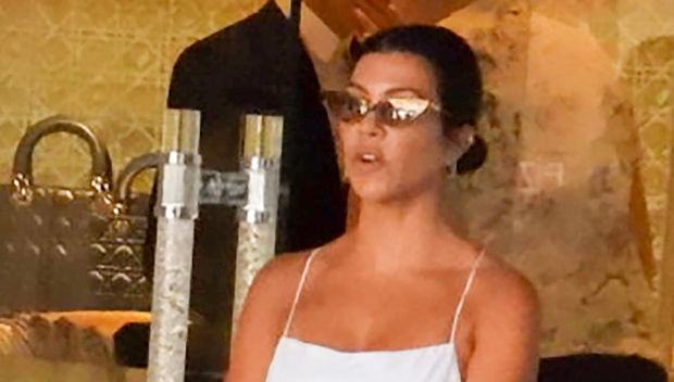 Kourtney Kardashian Rocks The Tiniest White Mini Dress On Italy T.